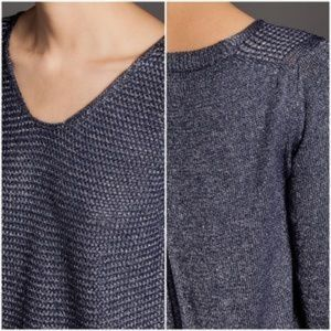 Purl Knit Open Back Massimo Dutti Sweater